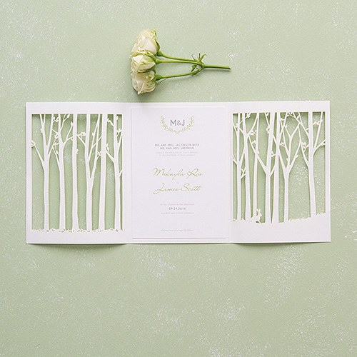 Laser Embossed Invitation with Personalisation