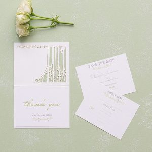 Laser Embossed Accessory Cards