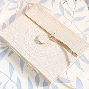 Leather Bound Bohemian Guest Book