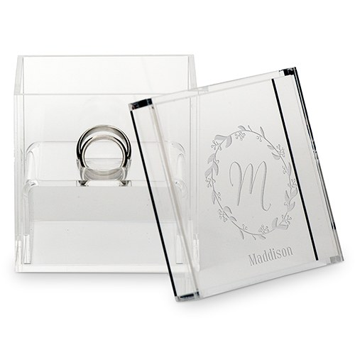 Personalised Acrylic Wedding Ring Box Personalised Acrylic Wedding Ring Box