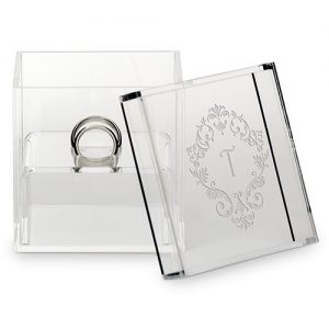 Personalised Acrylic Wedding Ring Box