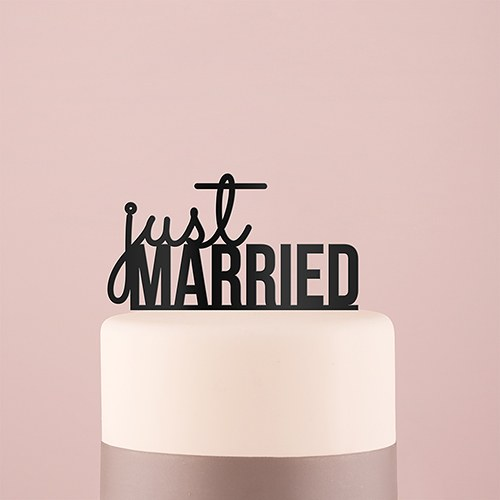 Just Married Acrylic Cake Topper