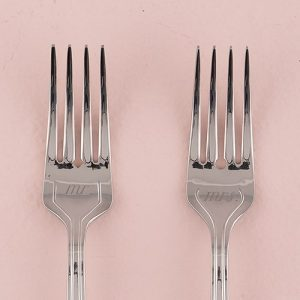 Mr and Mrs Cake Fork Set