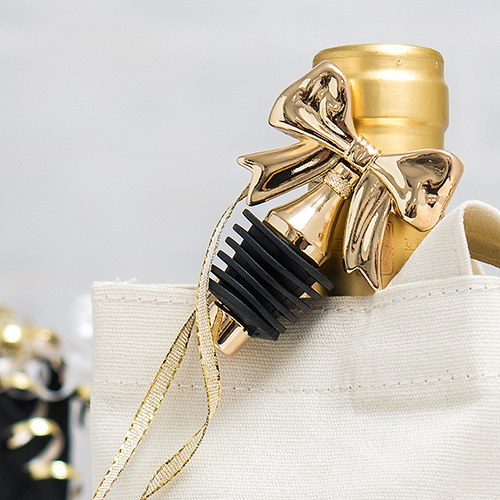 Dainty Gold Bow Bottle Stopper