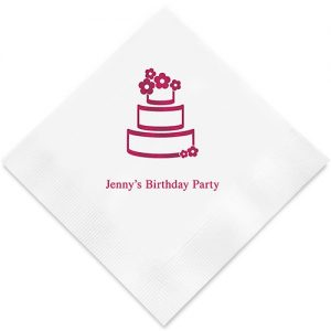 Wedding Cake Printed Paper Napkins