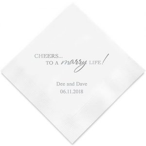 Cheers to a Marry Life Printed Paper Napkins
