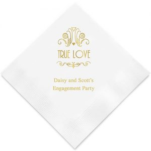 True Love Printed Paper Serviette