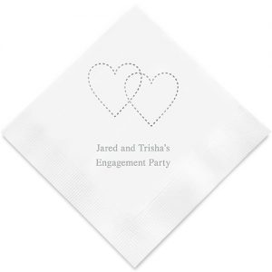 Dashed Hearts Printed Paper Napkins