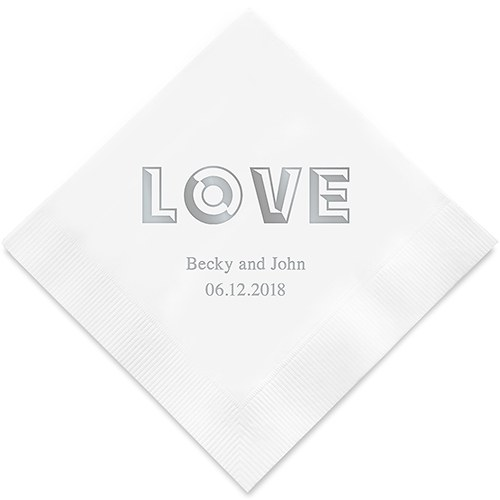 Bold Love Printed Paper Napkins
