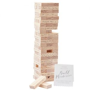 Jenga wedding guest book