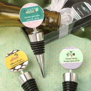 Personalized Expressions Collection silver metal wine bottle stopper