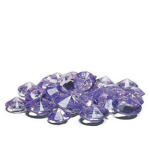 Lilac diamond shaped confetti