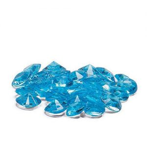 Aqua Blue diamond shaped confetti