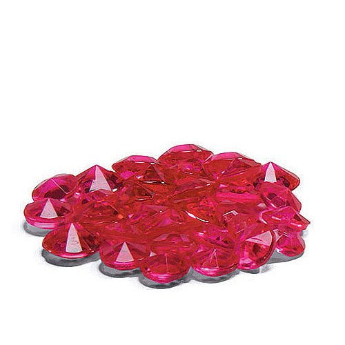 Fuchsia diamond shaped confetti
