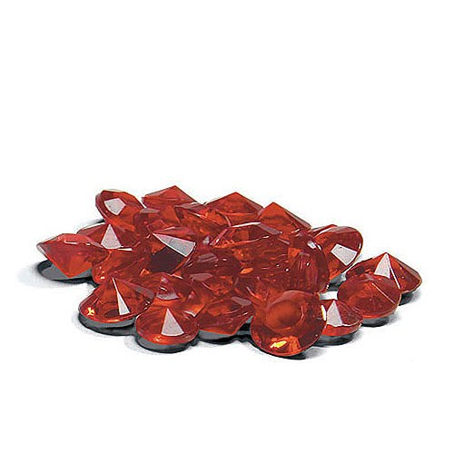 Ruby diamond shaped confetti