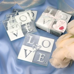 Glass Coaster Wedding Favours
