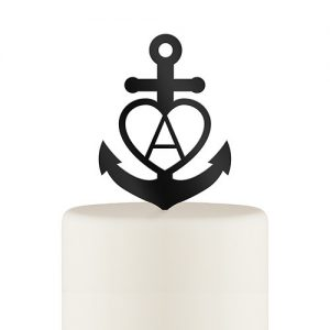 Love Anchor Acrylic Cake Topper