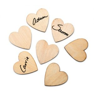 Small Wooden Craft Hearts