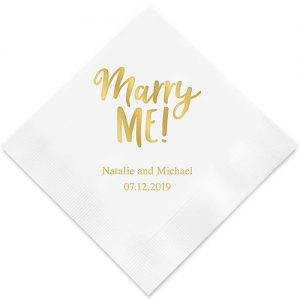 Marry Me! Printed Paper Napkins