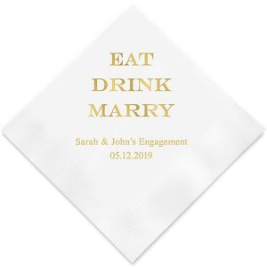 Eat Drink Marry Printed Paper Napkins