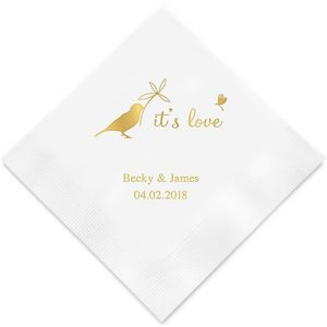 Whimsical Garden Printed Paper Napkins